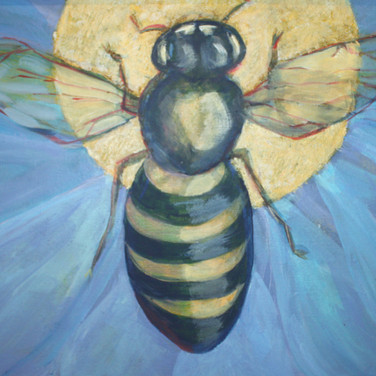 J. Kelly Lane Bee Cause Acrylic on Canva