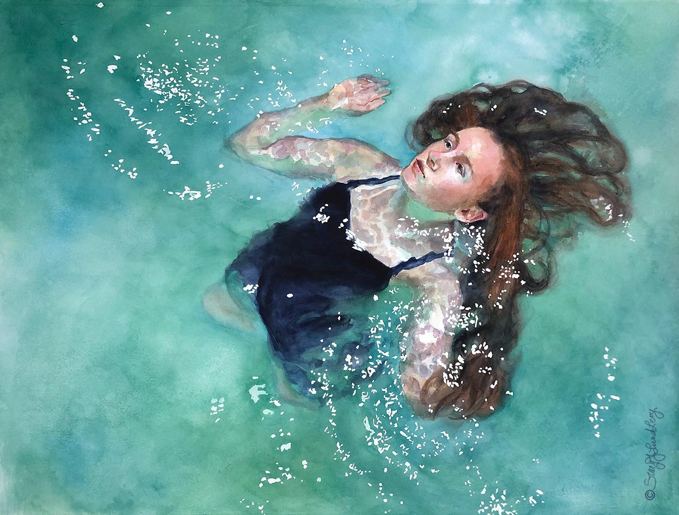Swimmer in Green - Lund Levy-1.jpg