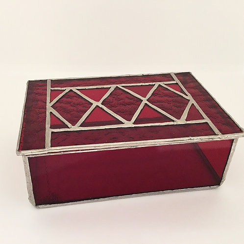copy of Stained Glass Jewelry Box, Red