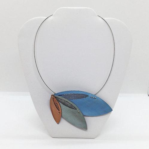 Falling Leaf Pendant - Blue, Sage, Cooper