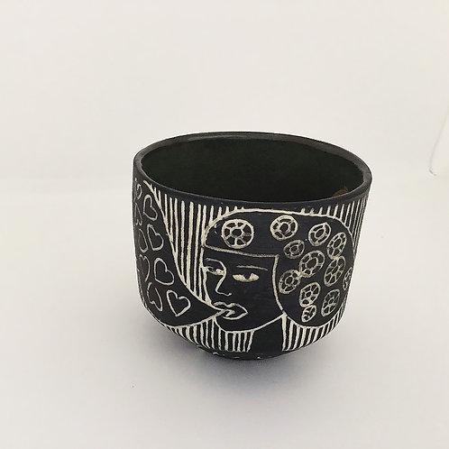 Mug, Woman, Heart Bubble