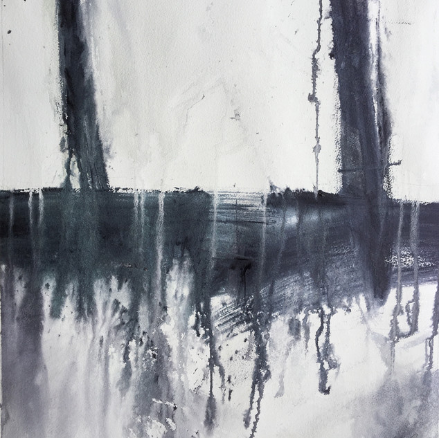 Ken Karlic Come Undone Watercolor 24 x 2