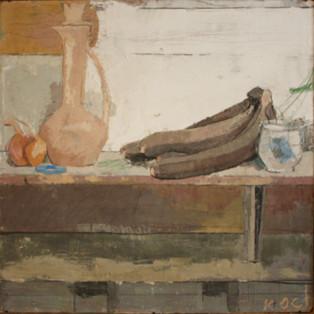 Bananas, Vase, and Shallots