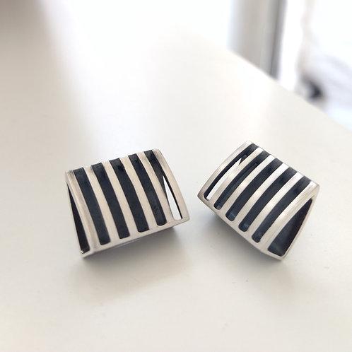 Linear Rectangle Post Earrings