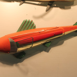 Leonard Streckfus, Orange _ Green Fish,