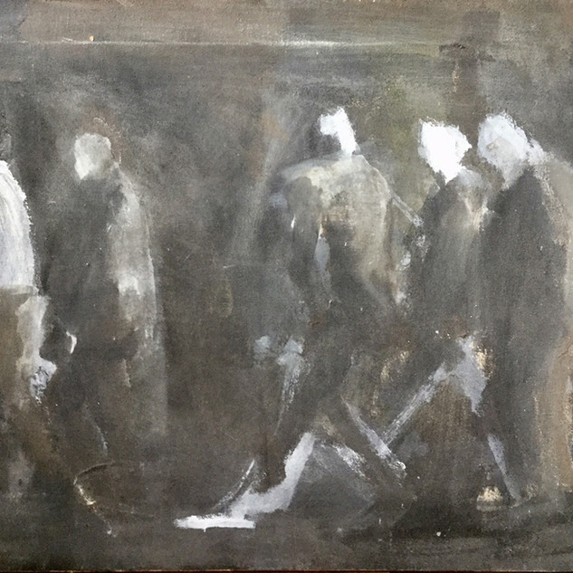 Five Men Walking