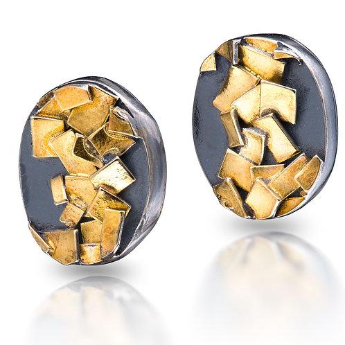 Pilas de oro Earrings