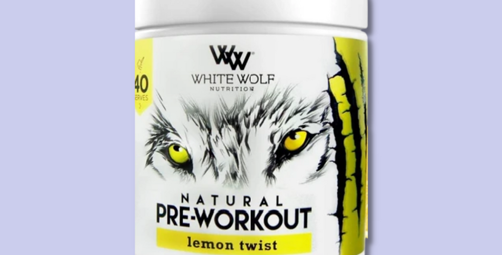 NATURAL PRE WORKOUT   WHITE WOLF NUTRITION