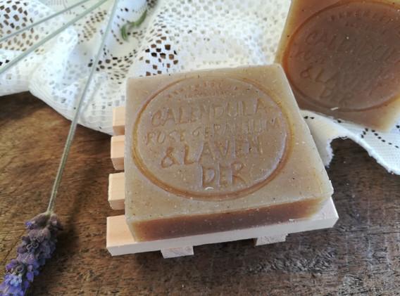 ECO Calendula, Rose Geranium & Lavender Soap Bar (Palm Oil Free)