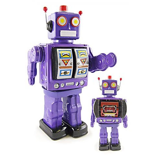 💜 Lovable Lavender Ms D-Cell Robot in box 🤖