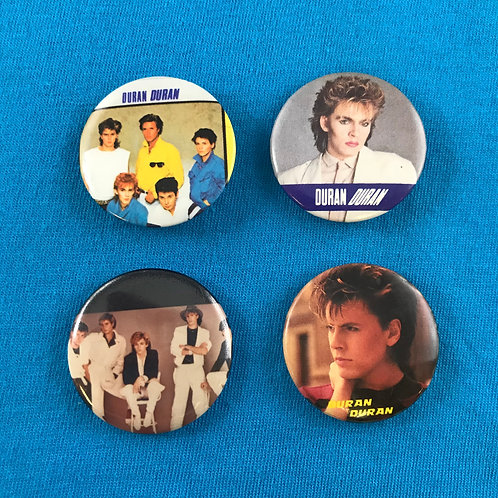 Set of 4 Vintage Duran Duran Pins