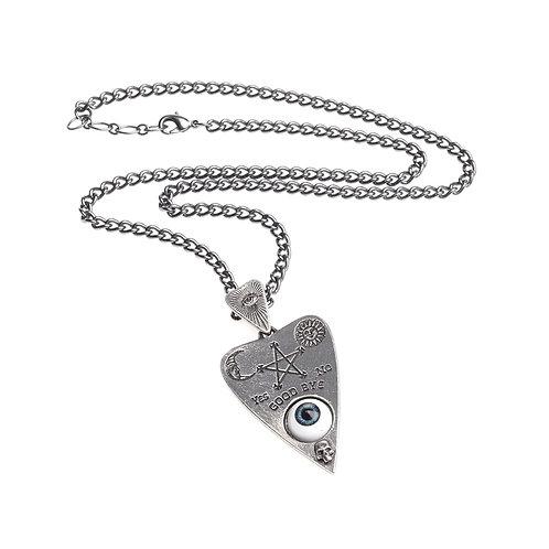 Ouija Board Planchette Evil Eye Necklace