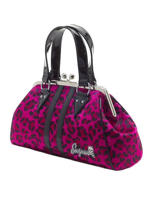 Sourpuss Pink Leopard Purse