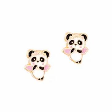Panda Angel Enamel Studs