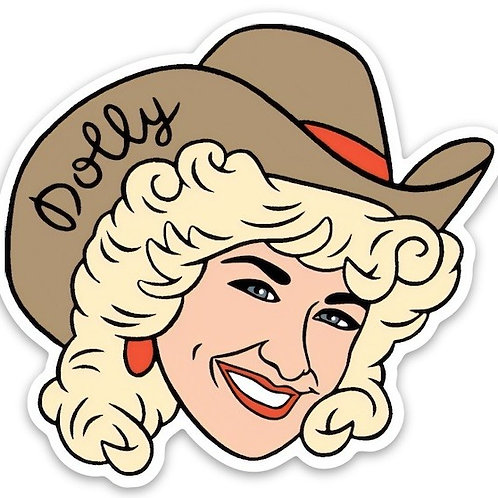 Dolly Parton Die Cut Sticker