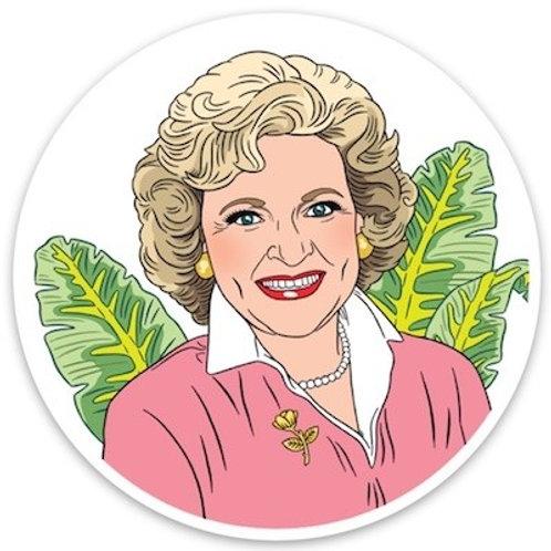 Betty White Die Cut Sticker