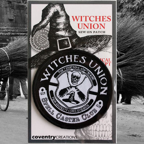 Witches Union Spell Caster Club Patch