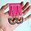 Thumbnail: Star Speckled Rainbow Dangle Earrings