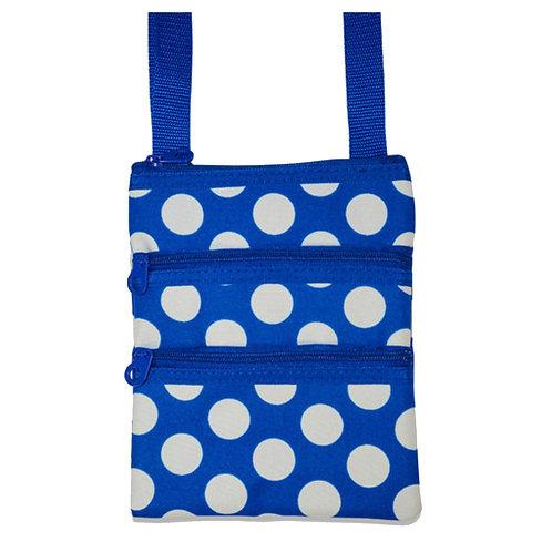 Blue Polka Dot Crossbody Bag