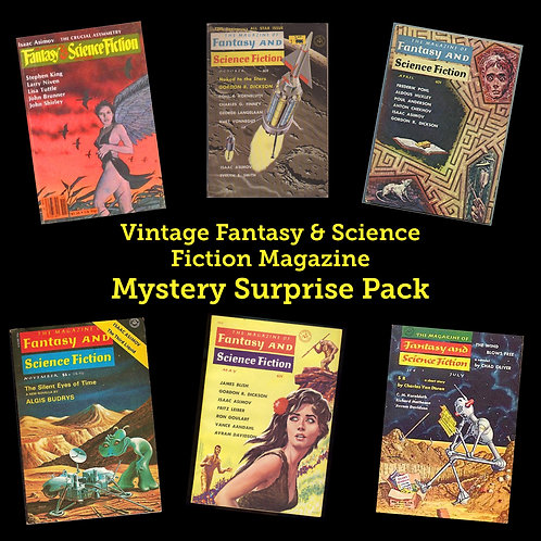 Vintage Fantasy & Science Fiction Magazine Mystery Surprise Pack