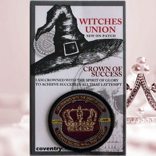 Witches Union Crown of Success Patch