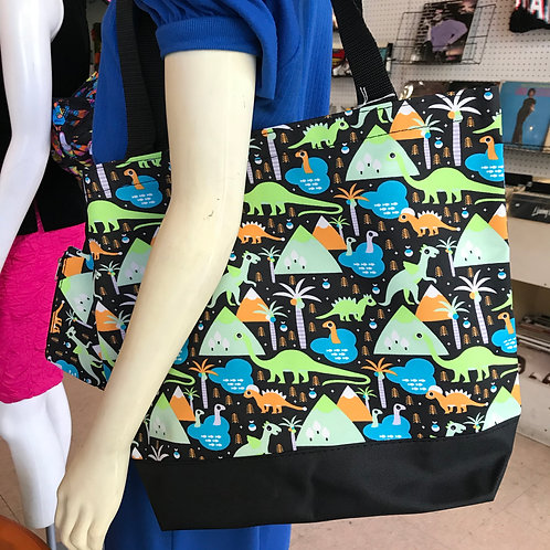 Large Dinosaur Tote w/ Coin Purse