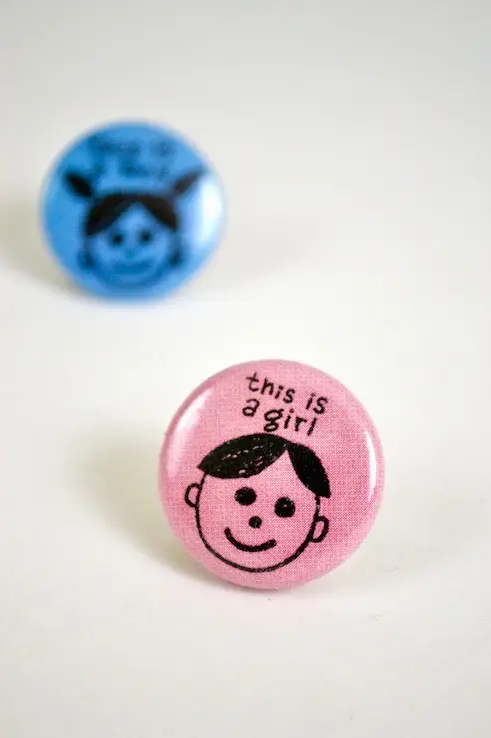 """""""this is a girl"""" pin"""