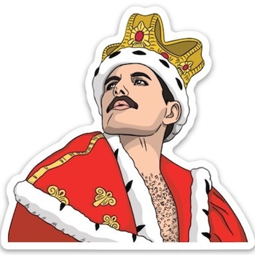 Freddie Mercury Die Cut Sticker