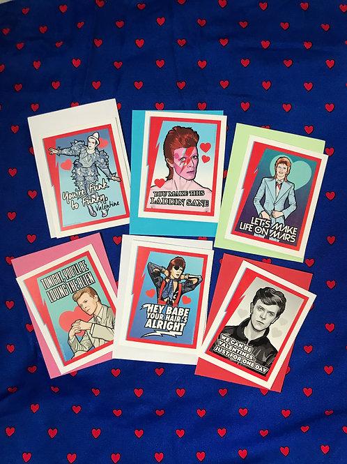 David Bowie Valentines by Matthew Lineham