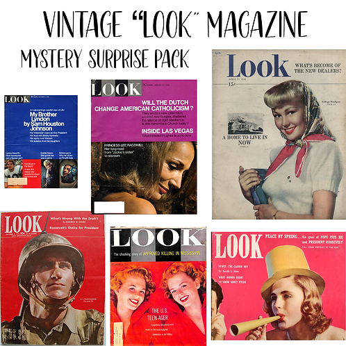 Vintage LOOK Magazine Mystery Surprise Pack
