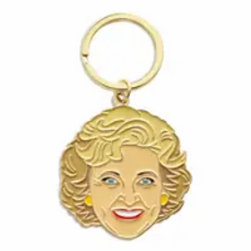 Betty White Keychain