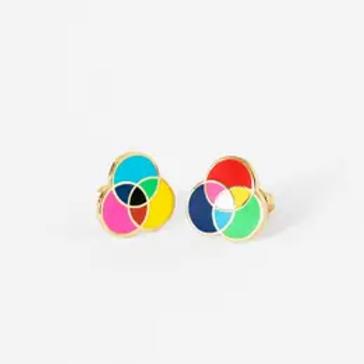 🌈 RGB and CMYK Earrings 🤗