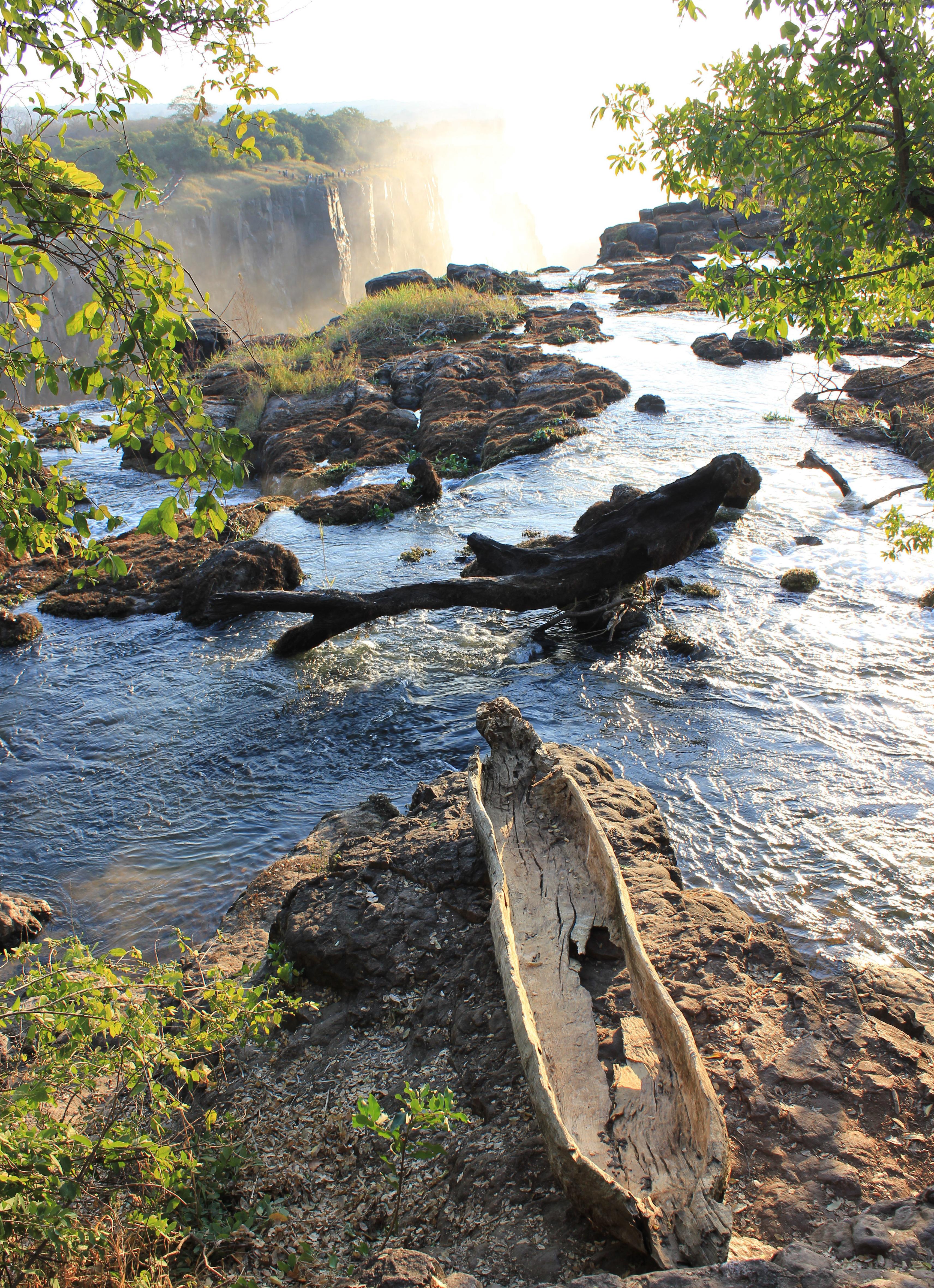 Victoria Falls Zambia and Canoe