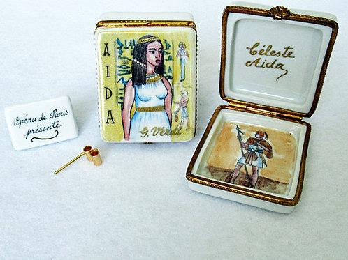 Limoges porcelain hand painted Aida opera box