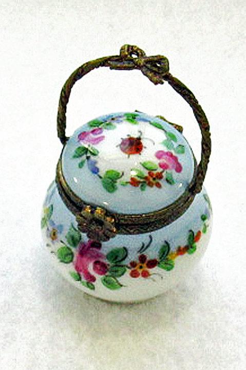 Limoges handpainted basket