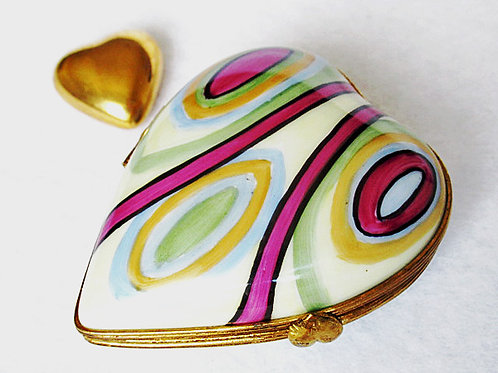 Limoges art deco heart box