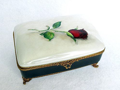 Limoges hand painted jewelry box