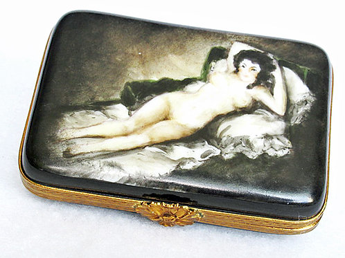 "Goya's ""Naked Maya"" hand painted limoges box"