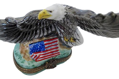 BALD EAGLE LIMOGES BOX