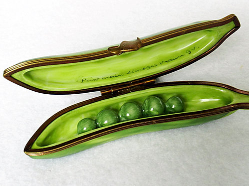 Limoges hand painted pea pod