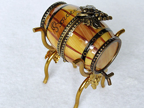 Limoges mini wine barrel