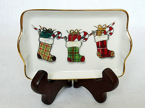 Limoges Christmas catch all tray