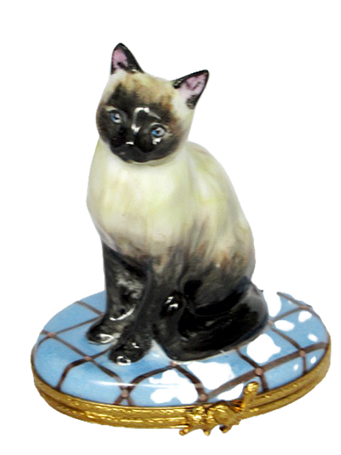SIAMESE CAT, LIMOGES BOX