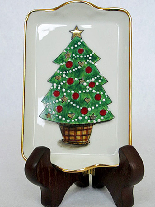 Limoges catch all Christmas tray