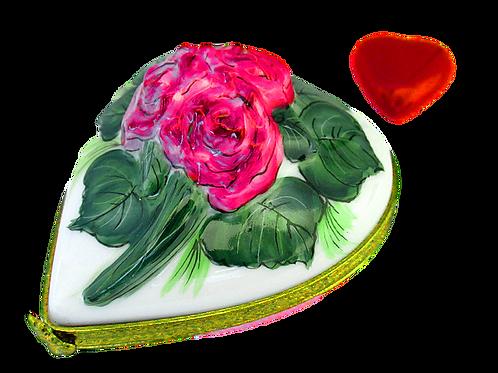 PRINCESS  ROSE LIMOGES HEART