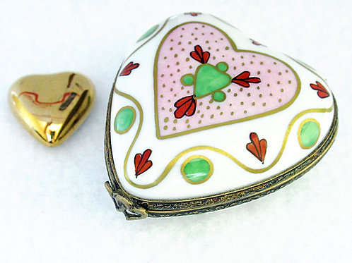 LIMOGES HANDPAINTED HEART