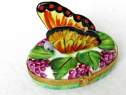 Limoges hand painted butterfly box