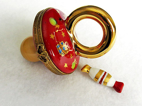 Limoges Christmas pacifier