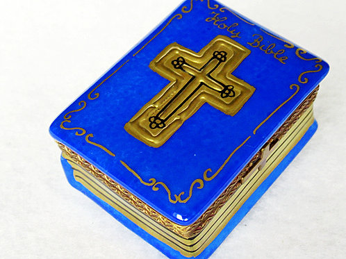 limoges handpainted bible box