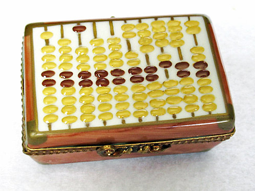 Limoges porelain hand painted abacus